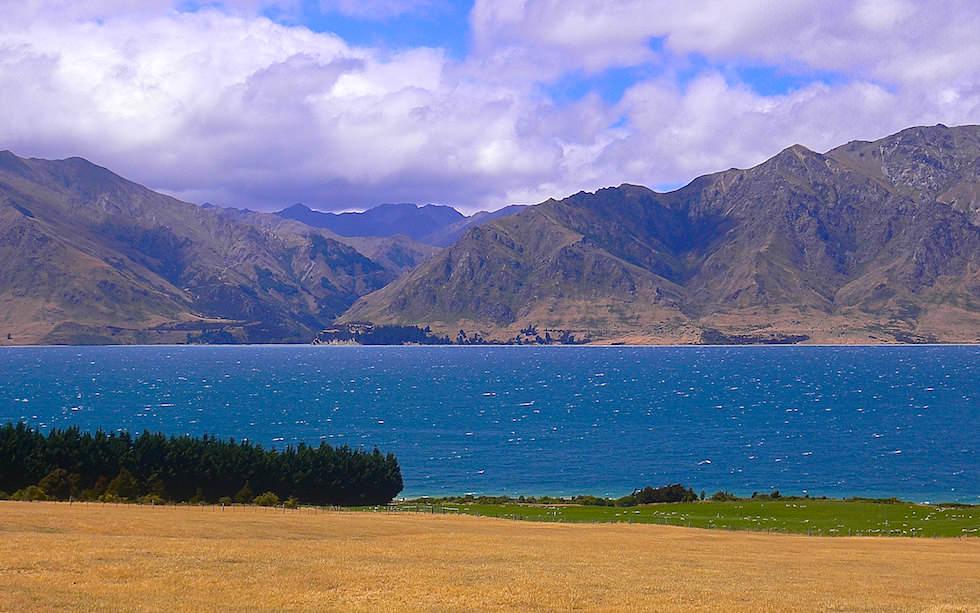 Lake Hawea in Otago Region New Zealand