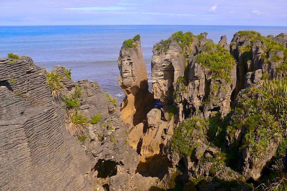 Pancake Rocks - Highlight im Paparoa National Park an der Westküste - Südinsel Neuseeland