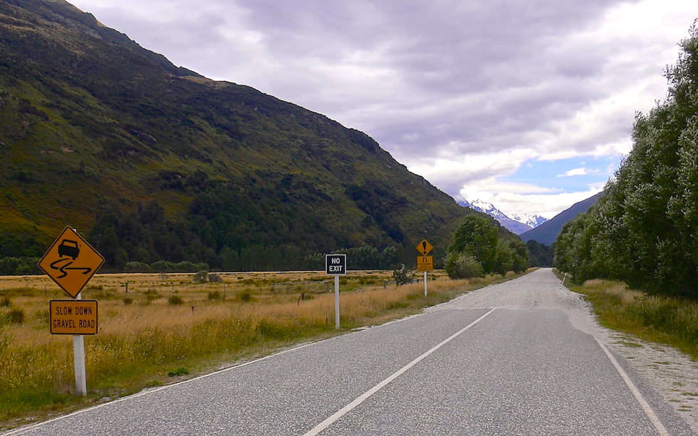 The road to Paradise South Island New Zealand