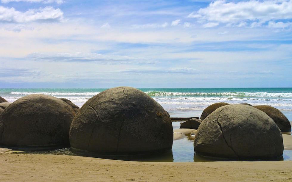 Moeraki Boulders near Oamaru New Zealand