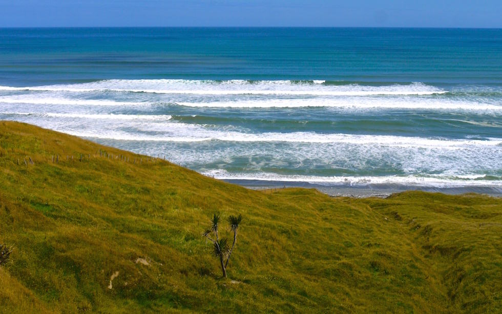 View from Mc Cracken Rest - Te Waewae Bay - South Island West of Invercargill - NZ