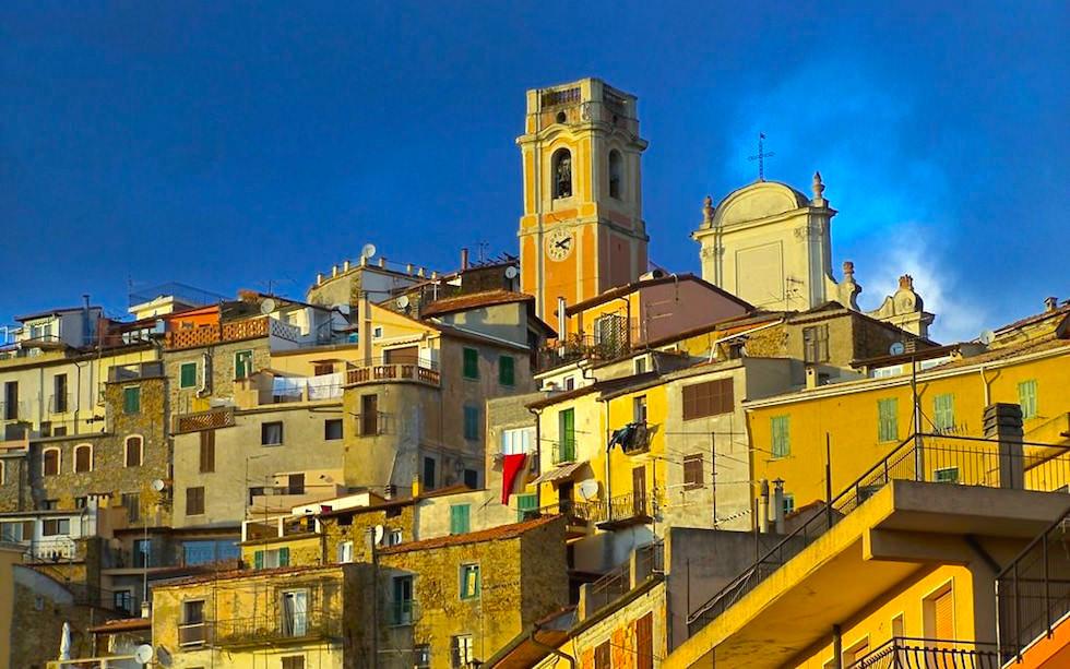 View on Perinaldo Liguria Italia near Ventimillia