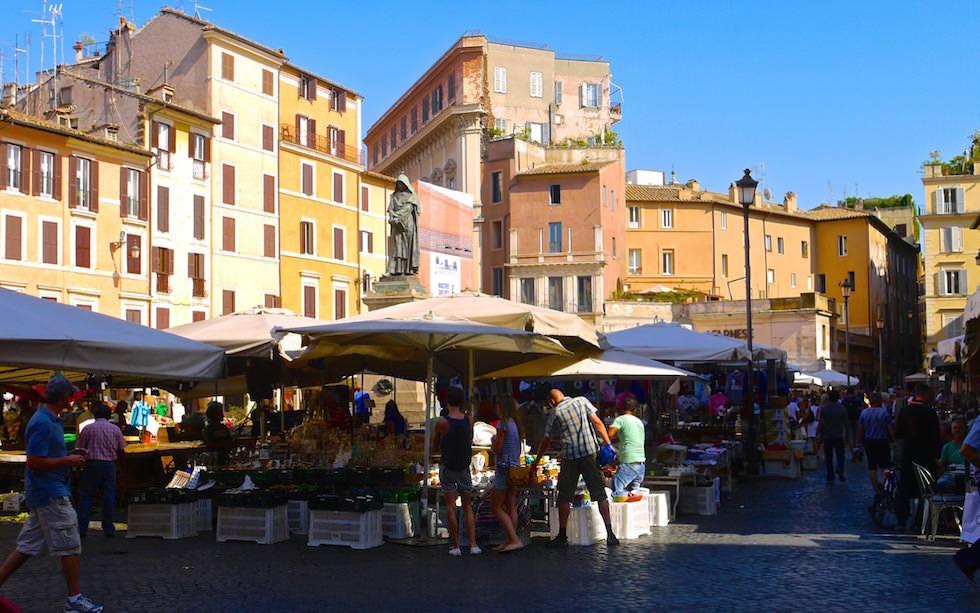 Campo de Fiori in der Nähe von Piazza Novana in Rom Italien