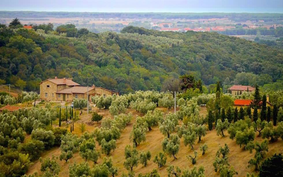 Hügellandschaft in de Toskana in Italien