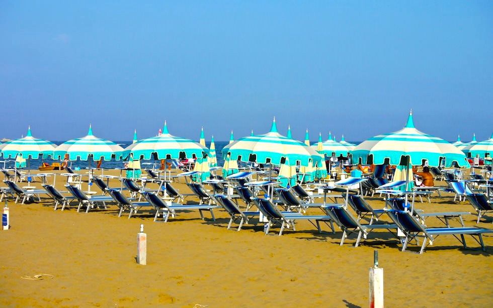 Beaches at Adriatic See in Italy