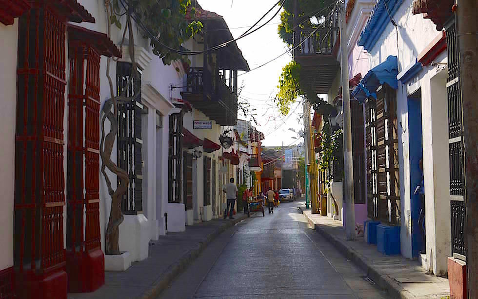 Lovely Streets and houses Cartagena Colombia