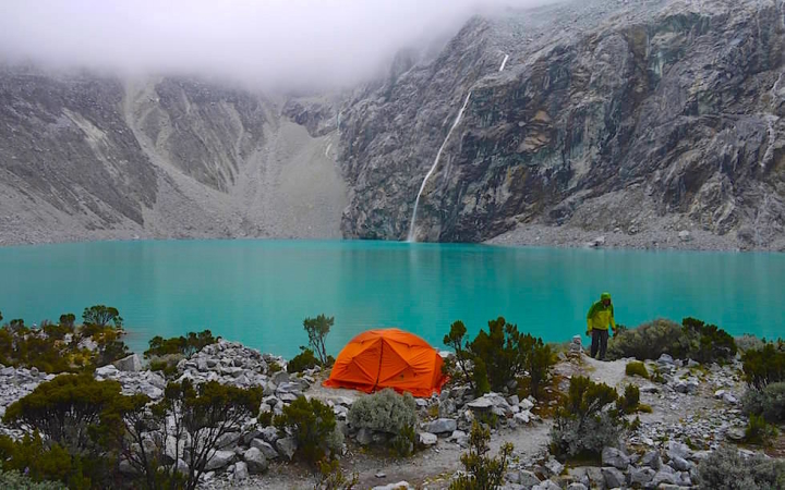 Laguna 69 - Lake 69 - Nationalpark Huascaran bei Huaraz in Peru