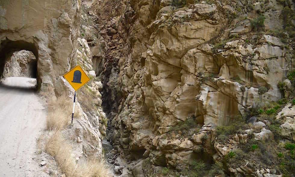 Tunnel - Canon del Pato - Entenschlucht - von Caraz nach Chimbote in Peru