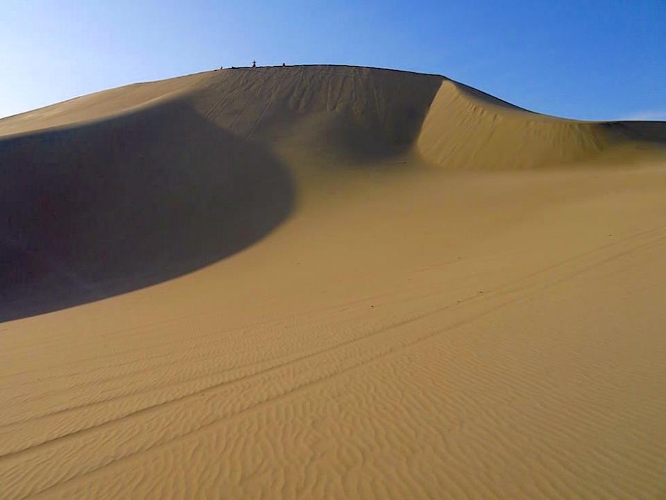 Sandboarding Sanddünen Huacachina Ica Peru