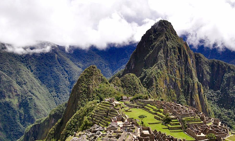 Blick auf Wayna Picchu und Machu Picchu - Peru