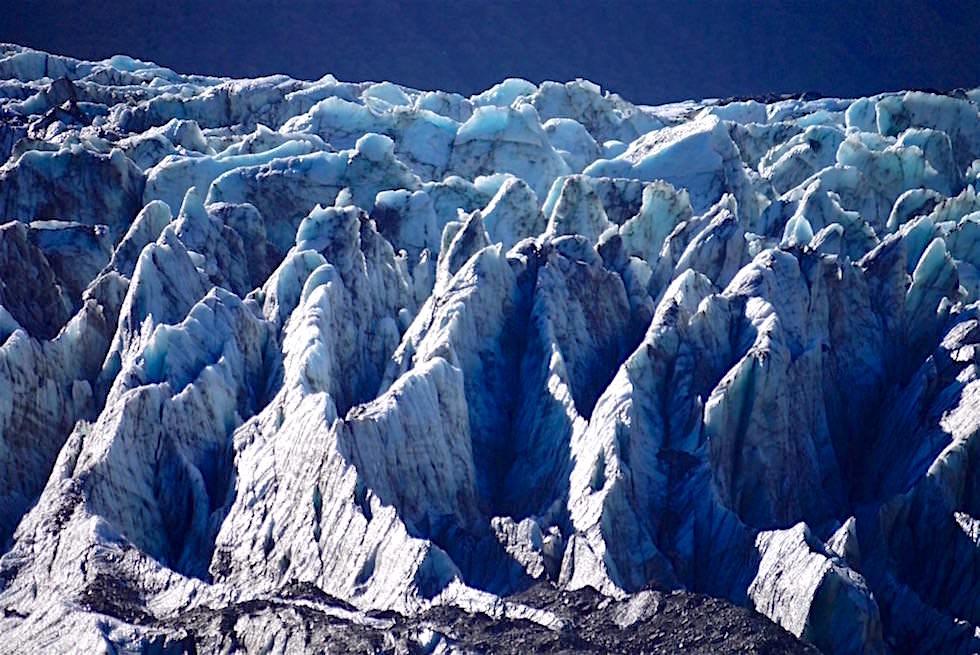Faszination Fox Gletscher: Gletscherfeld am Fox Glacier in Westland- Neuseeland Südinsel
