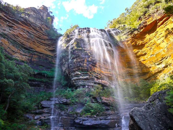 Die schönste Blue Mountains Wanderung vom Valley of Waters zu den Wentworth Falls - New South Wales