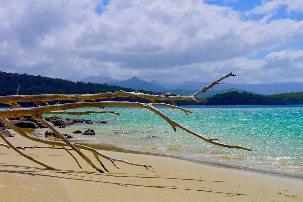Überwältigende Sonnen-Wolken-Stimmung: Recherche Bay bei Cockle Creek - Tasmanien