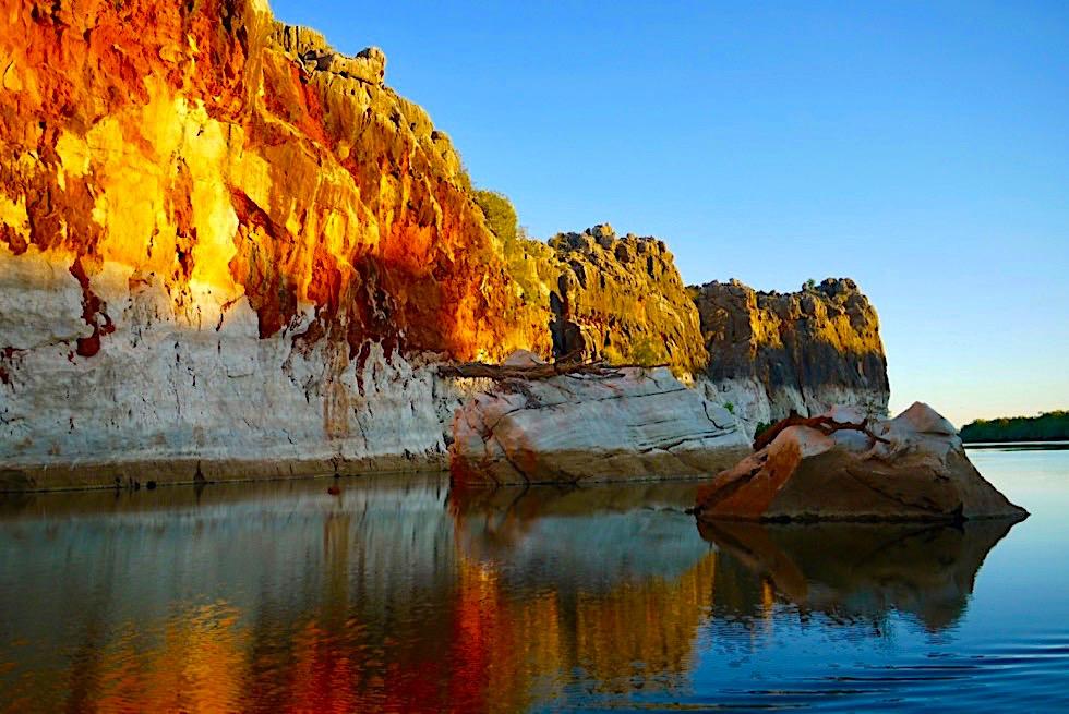 Geikie Gorge - Abendstimmung & leuchtende Farben - Fitzroy River - Kimberley - Western Australia