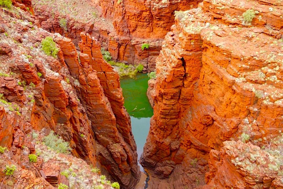 Karijini National Park: einer der schönsten Nationalparks der Welt - Faszinierend: Junction Pool Lookout - Pilbara - Western Australia