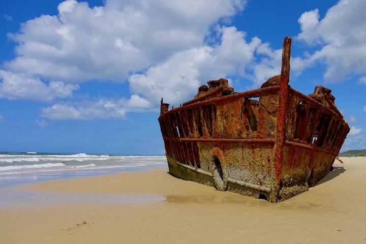 Fraser Island - Schiffswrack & Strand - Great Sandy National Park - Queensland