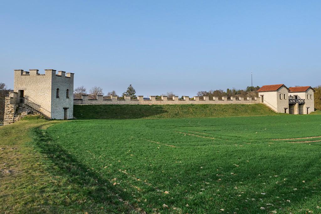 Das Castra Vetoniana oder Römische Kastell Pfünz diente zur Sicherung der Limes - Altmühltal, Bayern