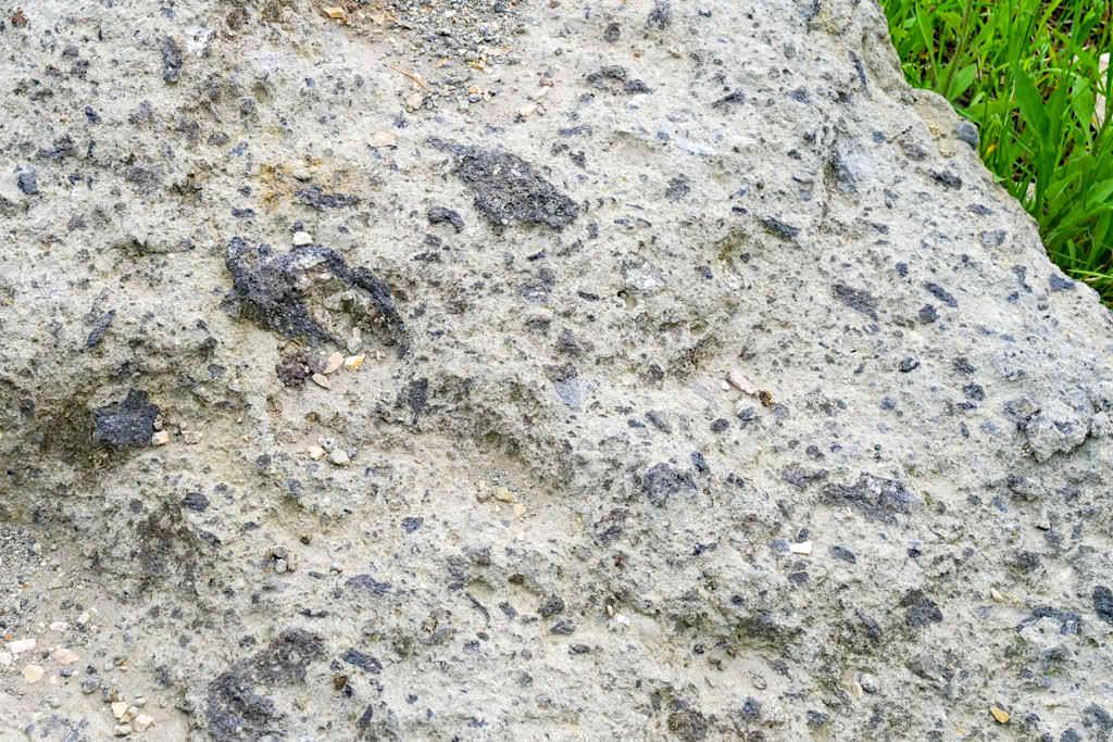 Suevit - Geschmolzenes Trümmergestein beim Ries-Ereignis - Nördlinger Ries, Bayern